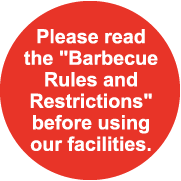 Please use the designated area for barbecues.